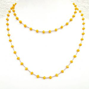 Colar semijoia cristal Amarelo