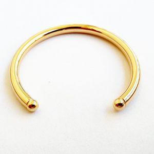 Pulseira semijoia bracelete liso aberto 339