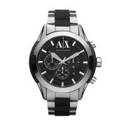 Relógio Masculino Casual Prateado com detalhes em borracha preta UAX1214Z Armani Exchange