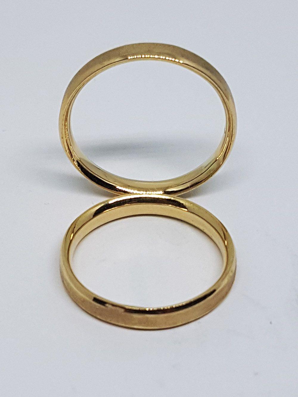 Alianças em Ouro São Luis - 18kl Reta Fosca Chanfrada e Anatômica