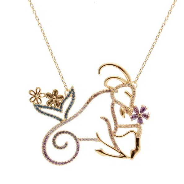 Colar Semijoia Símbolo do Zodíaco Capricórnio
