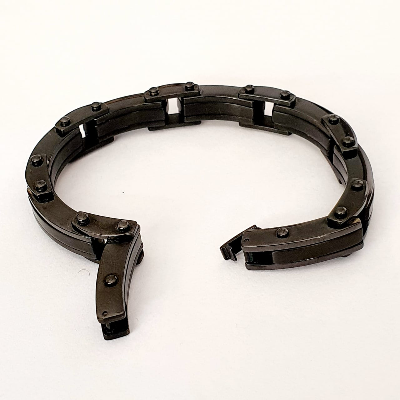 Pulseira Masculina de aço infinte black full 13mm 2700511