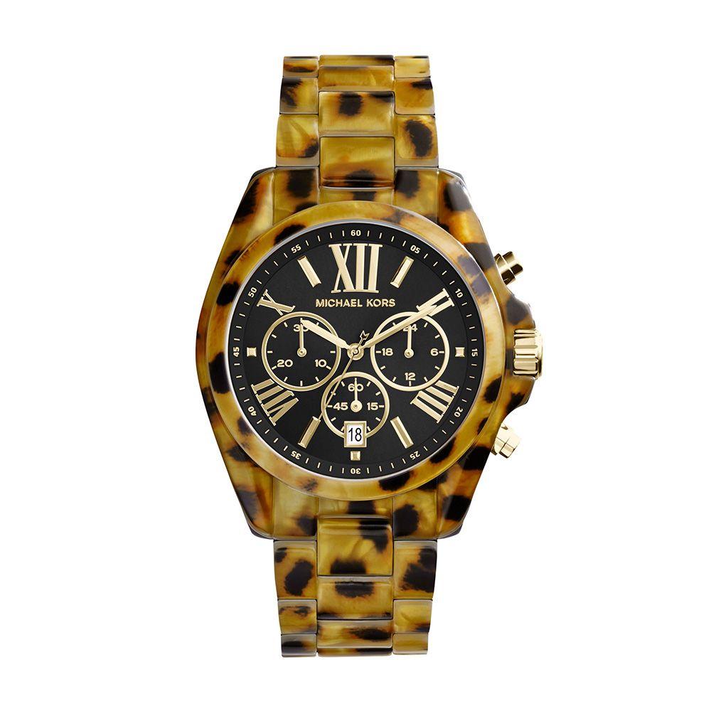 Relógio Feminino Casual Animal Print de Onça MK59048MN Michael Kors