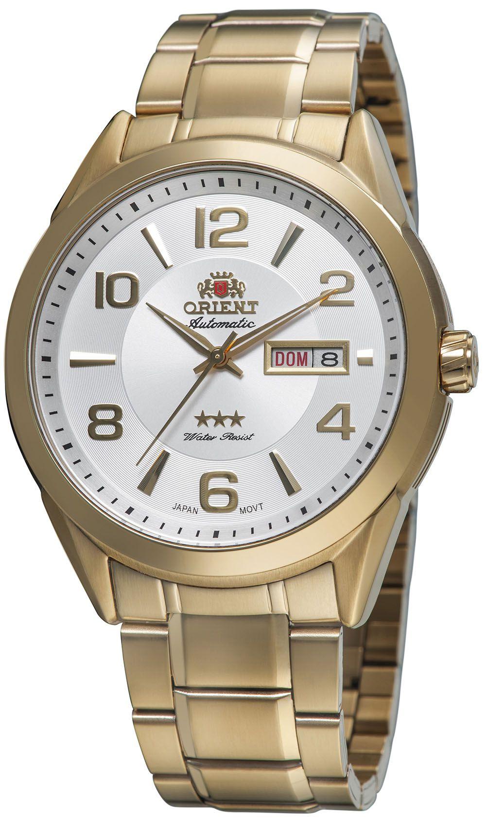 55b55c8e314 Relógio Orient Masculino 469GP052 Dourado - PATRICIA JOIAS