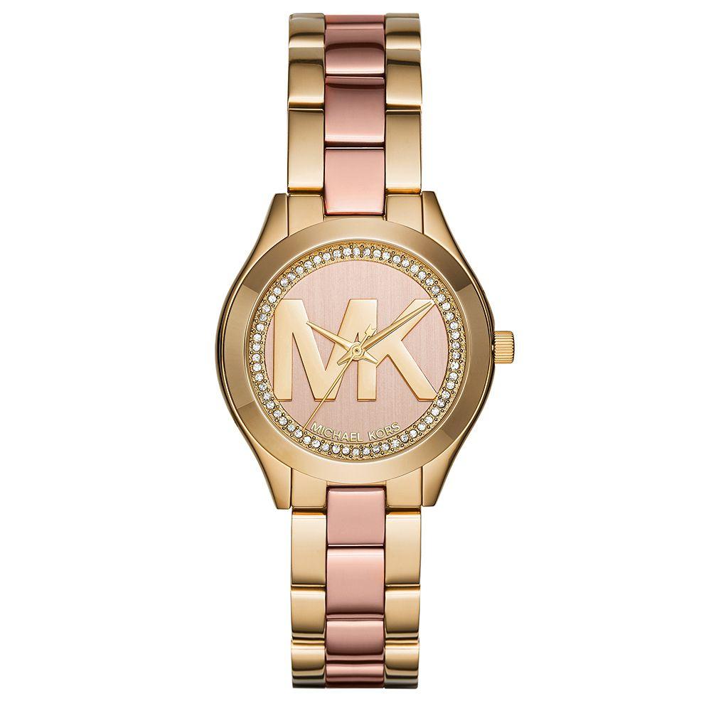 Relógio Michael Kors Feminino MK36505TN  Dourado e Rosê com Cristais Swarovsky