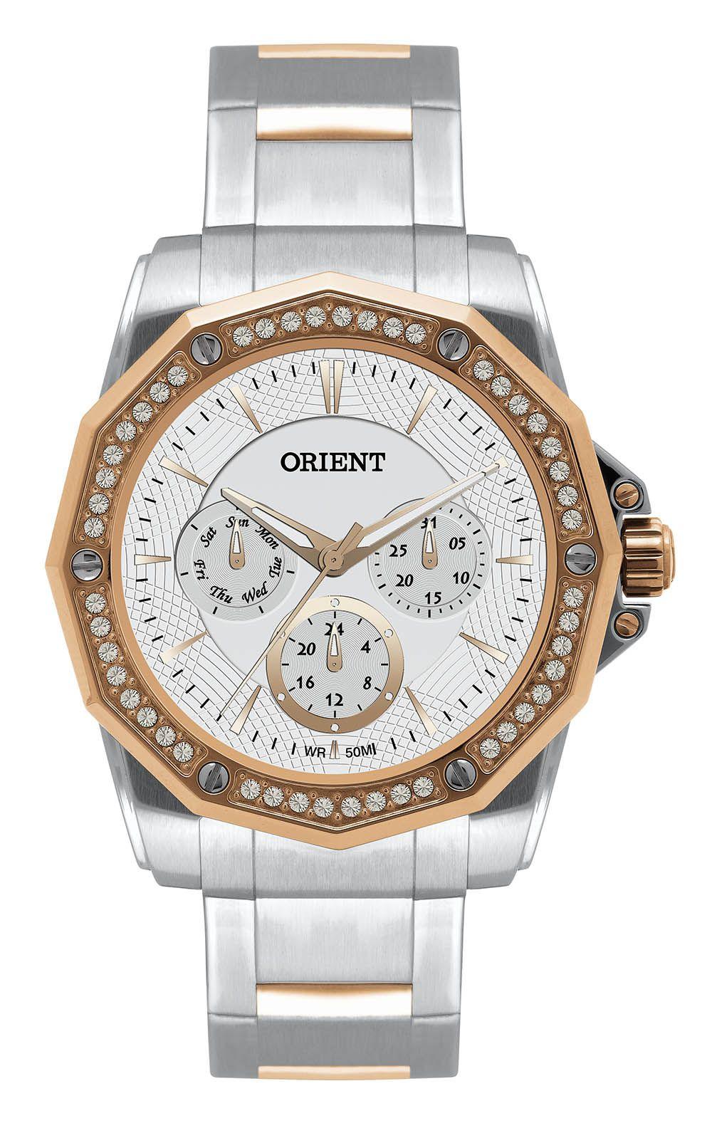 Relógio Feminino Casual Prata FTSSM022RG Orient