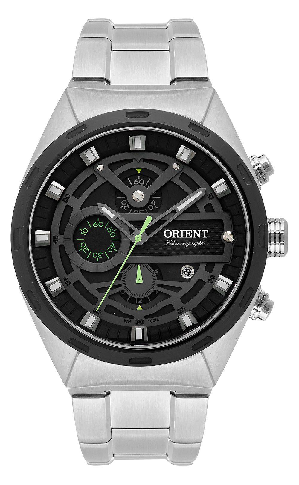 bb855423b Relógio Orient Masculino MBSSC176-P1SX Prata - PATRICIA JOIAS