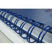 e) Espiral Wire-o 3/8 (Tamanho A4) Capacidade 60 Folhas