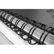 f) Espiral Wire-o 7/8 (Tamanho Ofício) Capacidade 170 Folhas