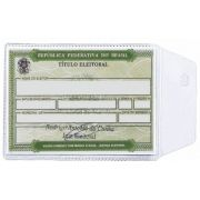 Porta Documentos em PVC Cristal 70 x 105 mm
