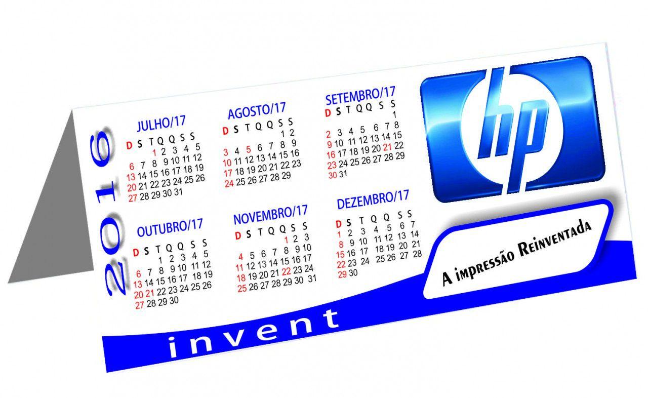 Calendário de Mesa Personalizado Revestido (modelo 016)