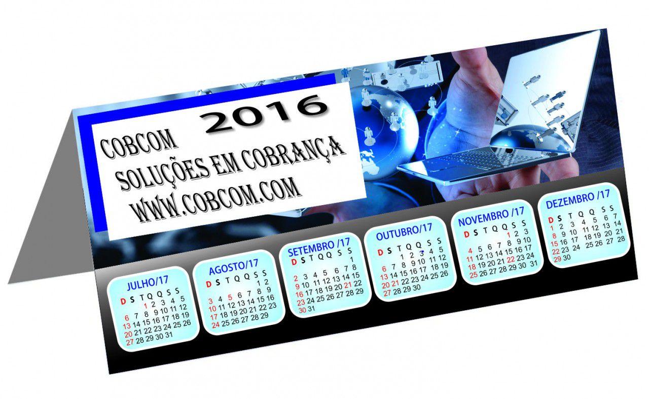 Calendário de Mesa Personalizado Revestido (modelo 018)