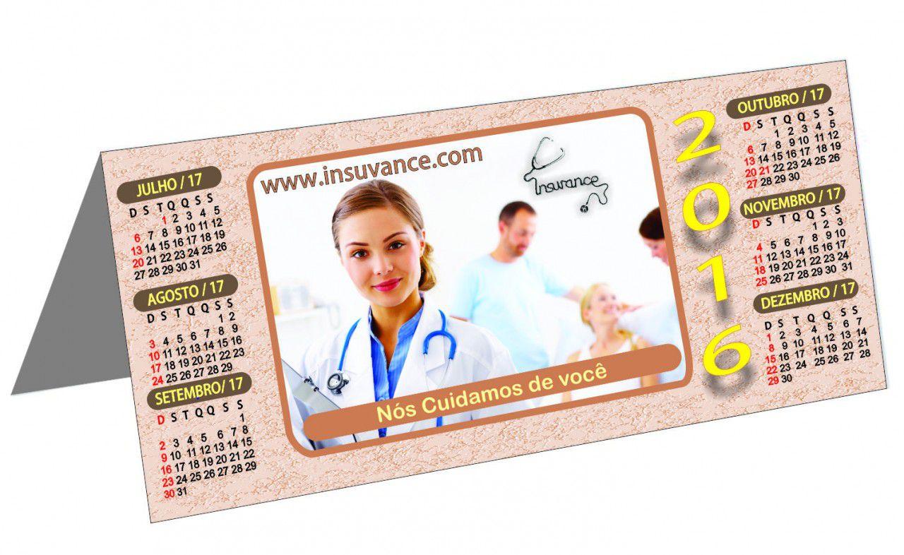 Calendário de Mesa Personalizado Revestido (modelo 019)