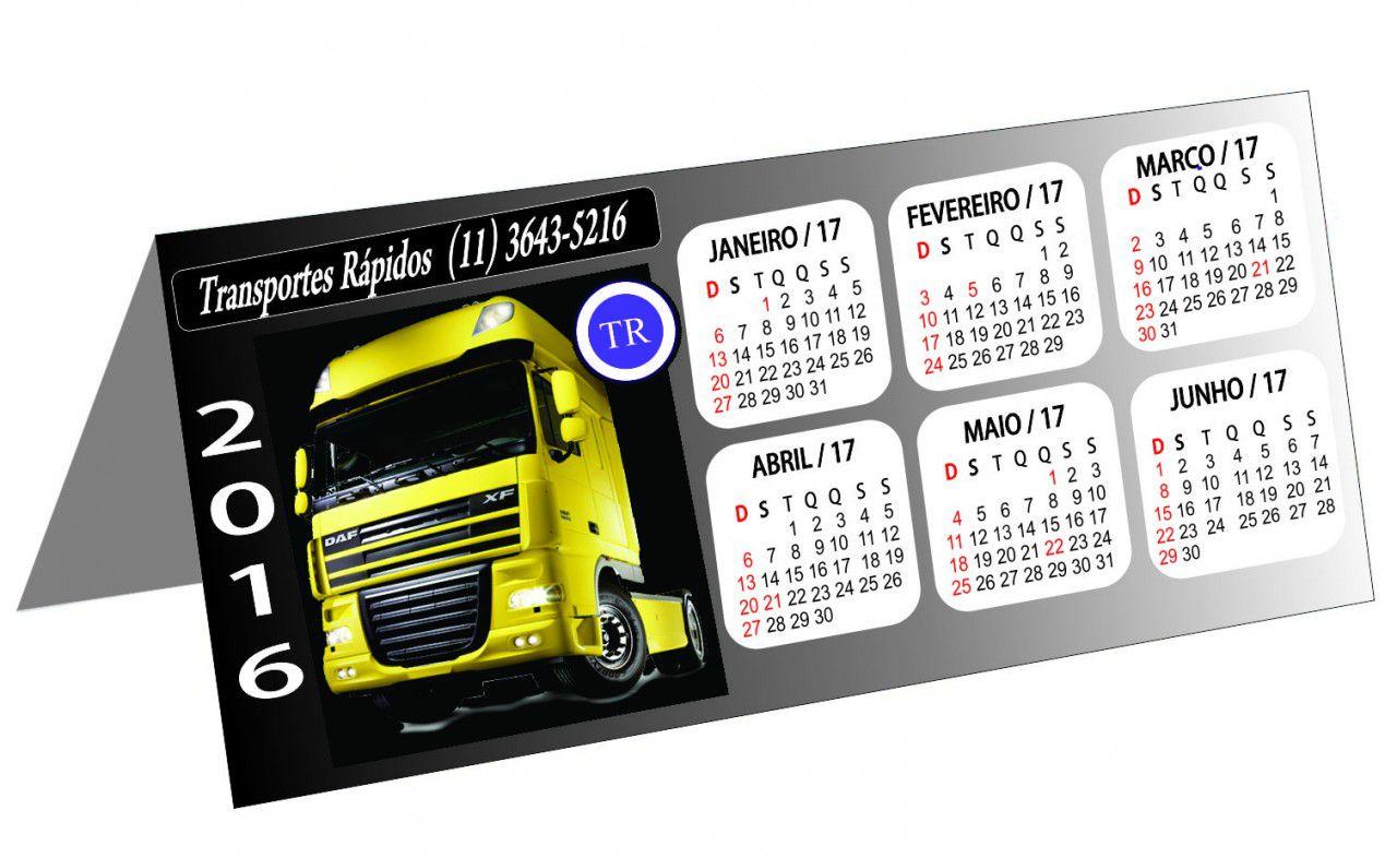 Calendário de Mesa Personalizado Revestido (modelo 020)