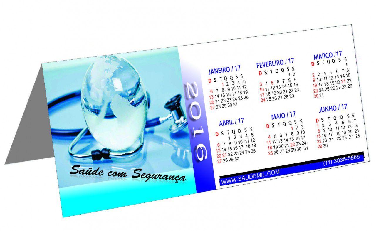 Calendário de Mesa Personalizado Revestido (modelo 021)
