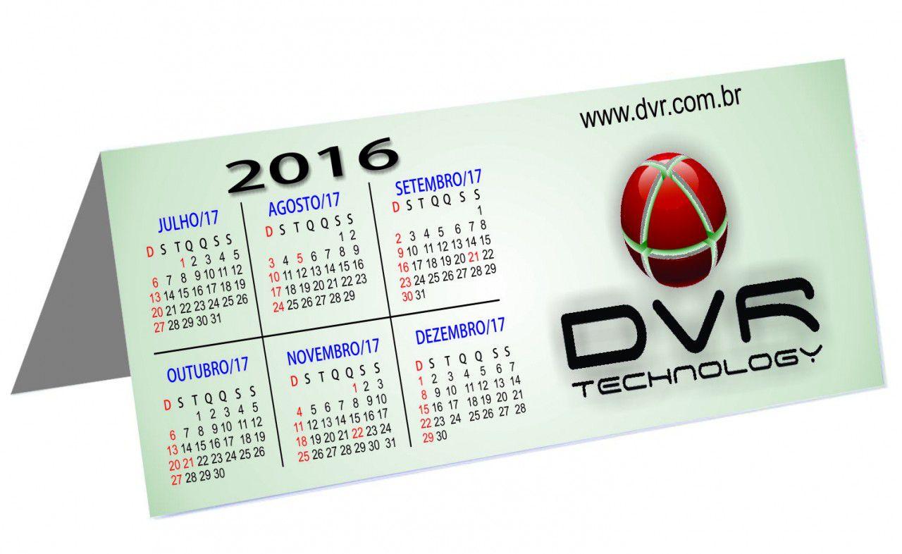 Calendário de Mesa Personalizado Revestido (modelo 015)
