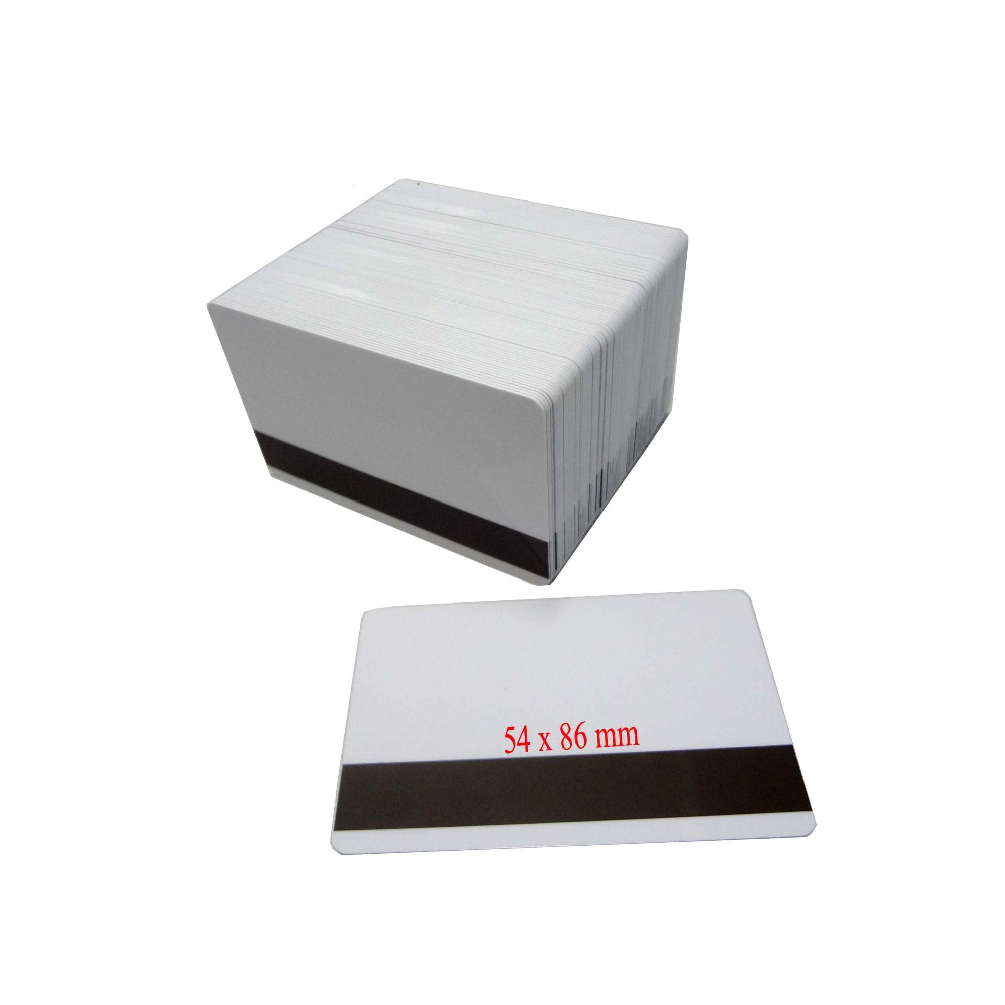 h) Cartão PVC Branco com Tarja Espessura 076 Tamanho 54 X 86 mm