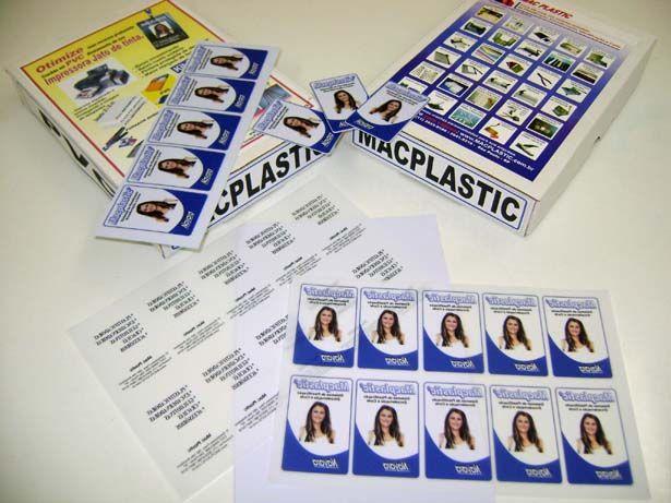 Kit PVC (20 x 30 cm) para 100 Crachás - Jato de tinta