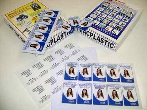 Kit PVC (20 x 30 cm) para 500 Crachás - Laser