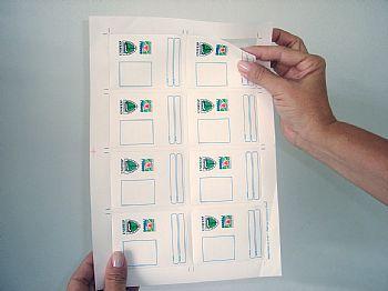 Papel Spid Para Crachás Micro-serrilhado 54 x 86 mm (A4)  Jato de Tinta