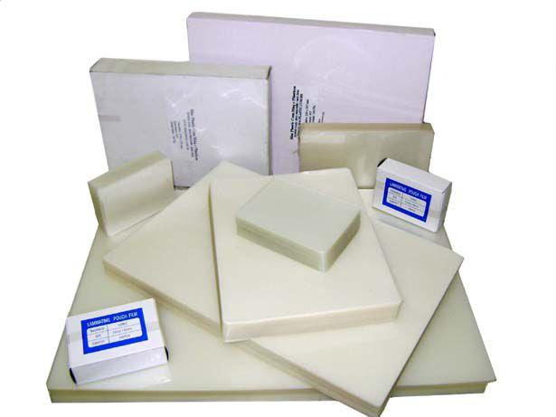 a) Polaseal 54 x 86 mm Espessura 005     (100 folhas)