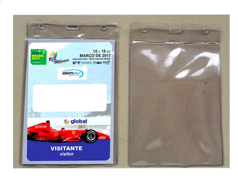 Porta Credencial em PVC Cristal