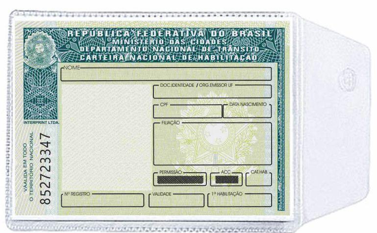 Porta Documentos em PVC Cristal 65 x 95 mm