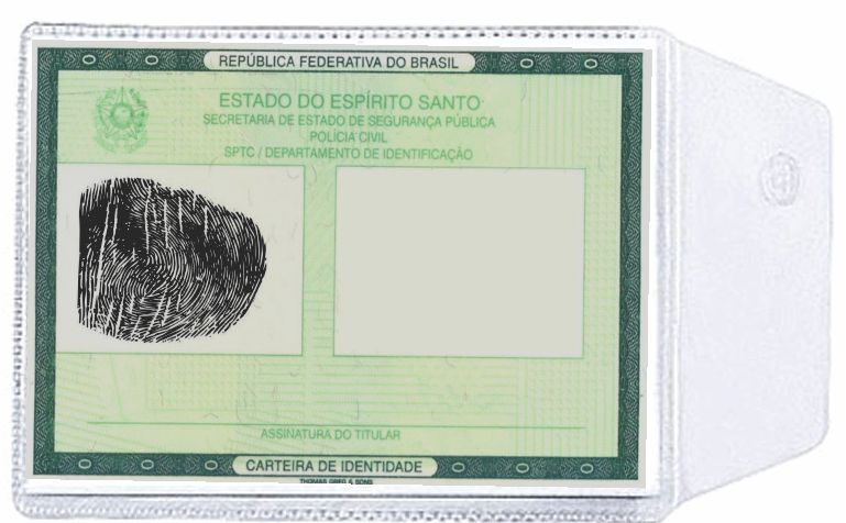 Porta Documentos em PVC Cristal 80 x 110 mm