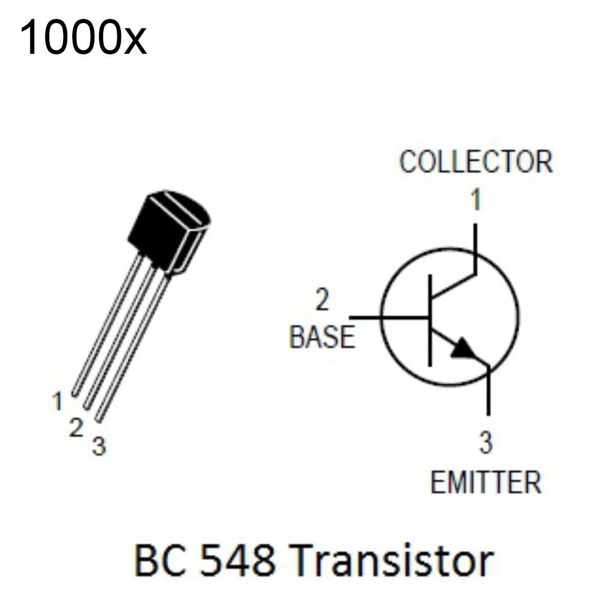 1000 Peças Transistor Npn Bc548 Transistores Bc548