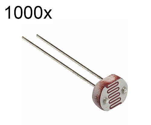 1000x LDR 5mm Fotoresistor | Sensor de Luz
