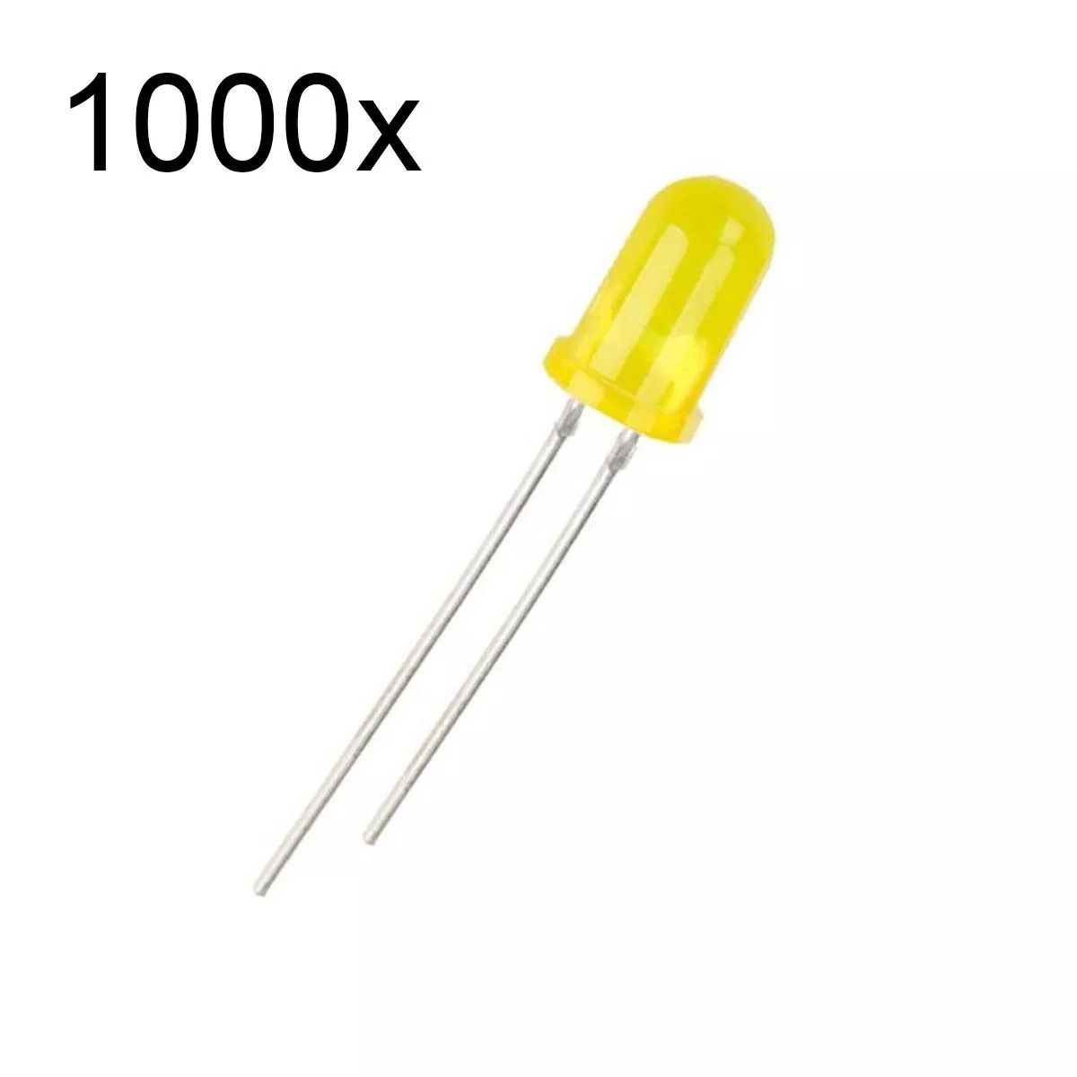 1000x Led Amarelo Difuso 5mm