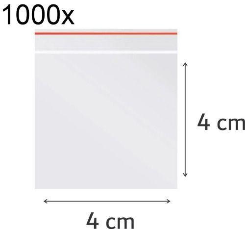 1000x Saco Plástico Zip Lock Hermético 4 x 4 cm Nº 0