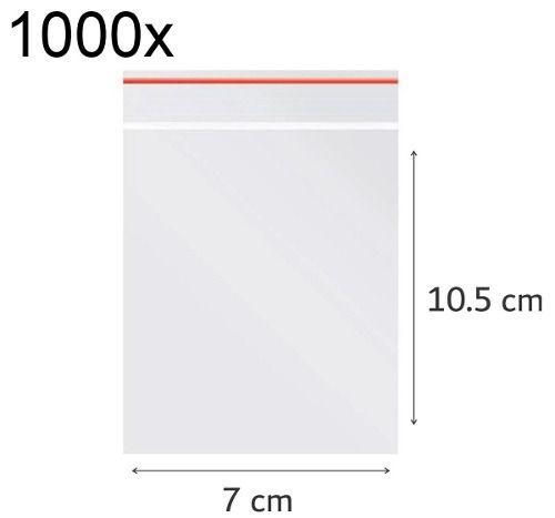 1000x Saco Plástico Zip Lock Hermético 7 x 10.5 cm Nº 3