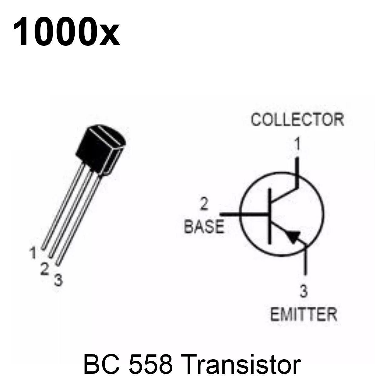 1000x Transistor PNP BC558