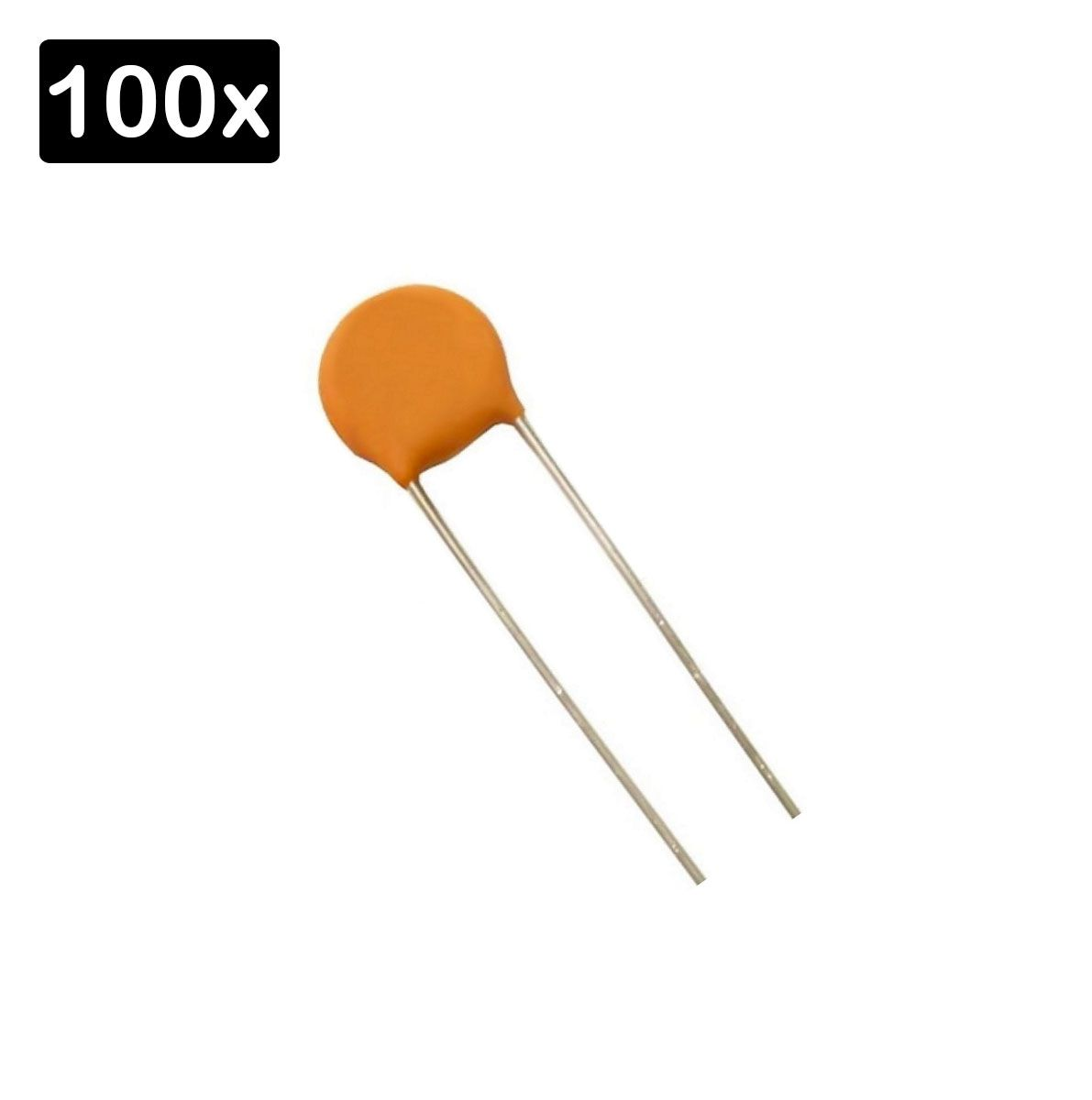 100x Capacitor Cerâmico 10 nf 50v (0,01uF/10K/10KpF/103)