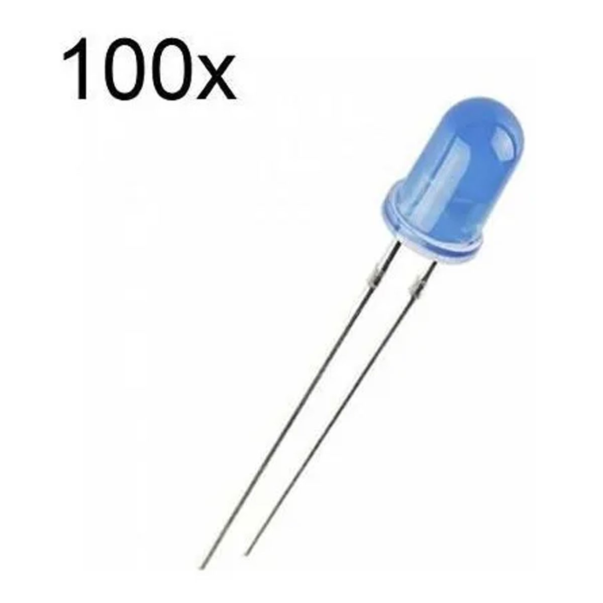 100x Led Azul Difuso 5mm
