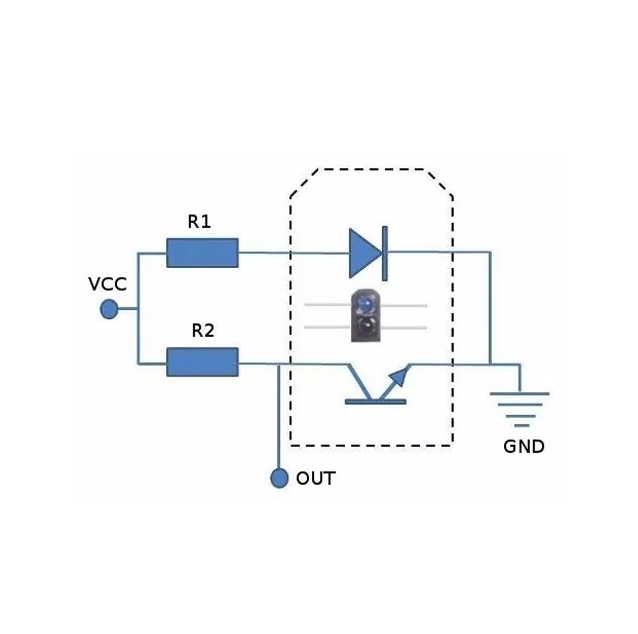 100x Peças de Sensor Refletivo IR Tcrt5000 TCRT