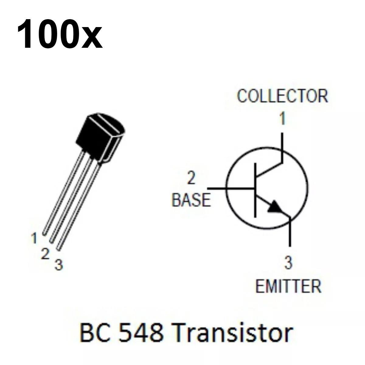 100x Transistor NPN BC548