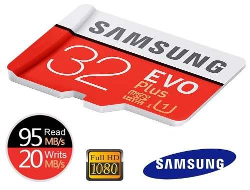 Cartão de Memória Micro SDHC 32GB Samsung Classe 10 Evo Plus Pro