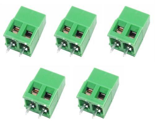 5x Borne KRE KF128 Verde 2 Terminais c/ Parafuso 10A
