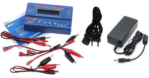 Carregador Balanceador de Baterias Imax B6 + Fonte 12v 5A