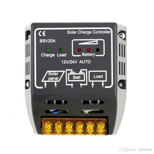 Controlador de Carga para Painel Solar 20A 12v 24v