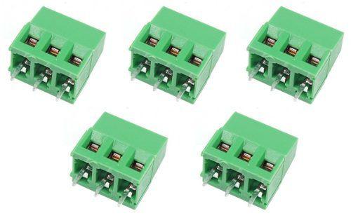 5x Borne KRE KF128 Verde 3 Terminais c/ Parafuso 10A