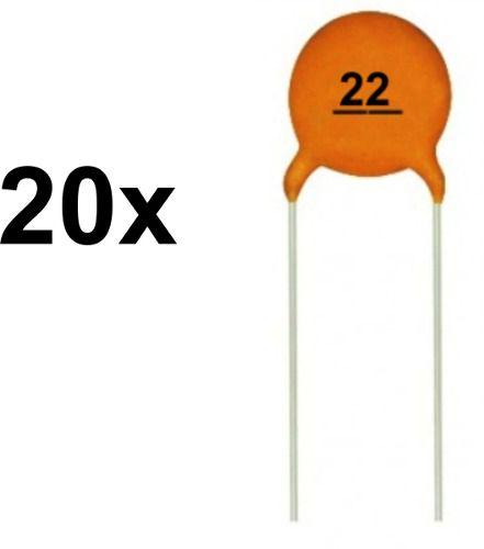 20x Capacitor Cerâmico 22pF 50v