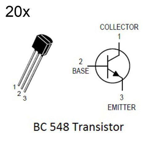 20x Transistor NPN BC548