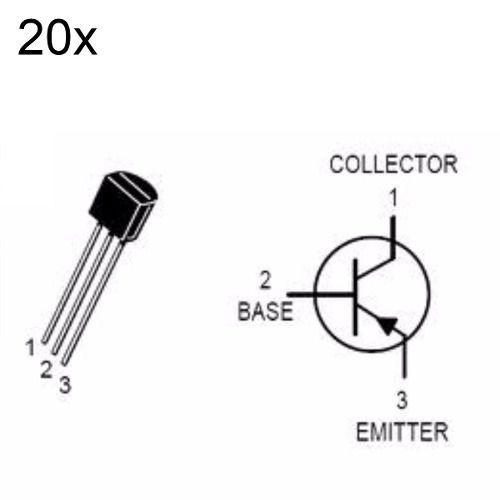 20x Transistor PNP BC558