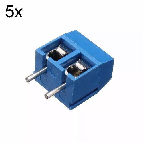 5x Conector Borne KRE Kf301 2 Vias c/ Parafuso