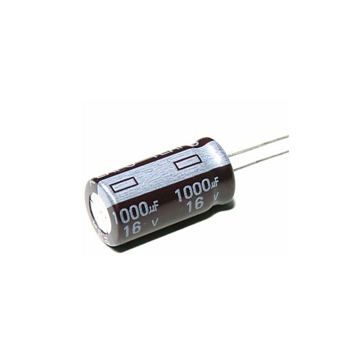 10x Capacitor Eletrolítico 1000uF 16V 105 ºC