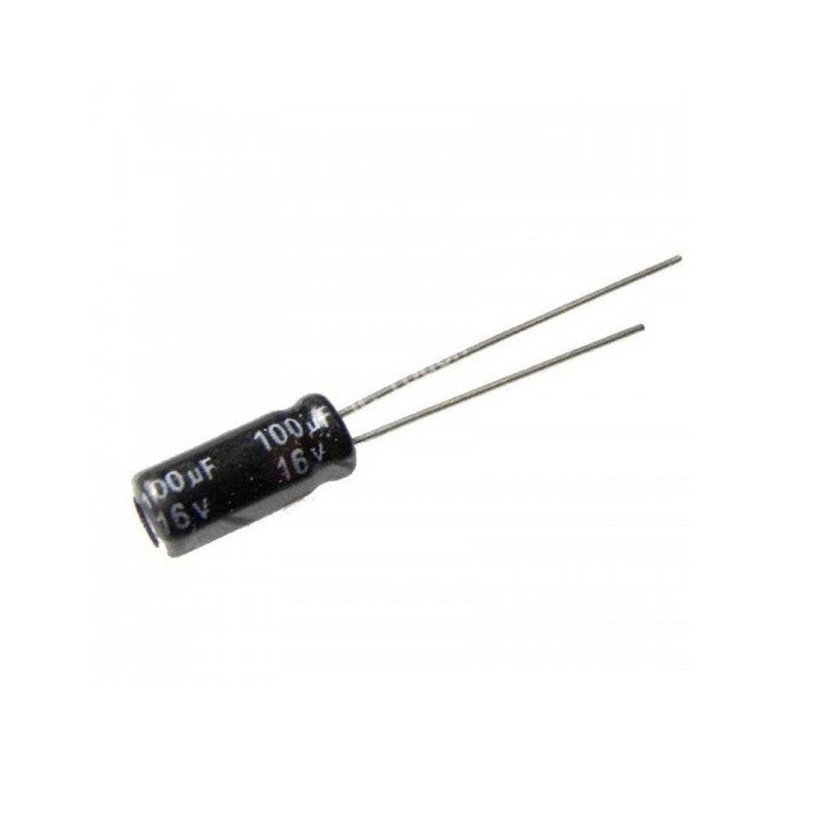 10x Capacitor Eletrolítico 100uF 16V 105 ºC