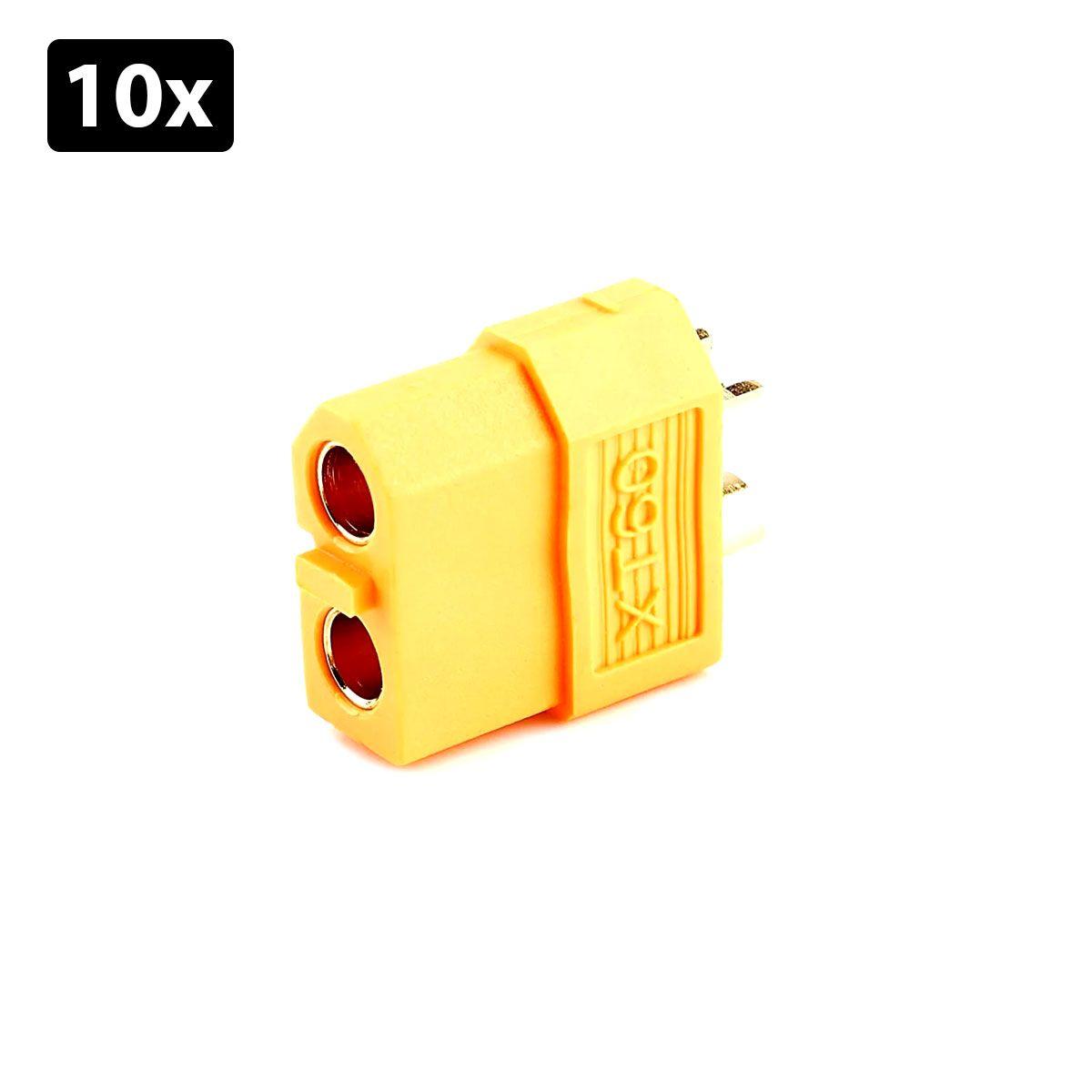 Kit com 10x Conector XT 60 Fêmea | Conector Lipo